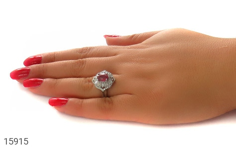 انگشتر یاقوت سرخ طرح شهناز زنانه - عکس 7