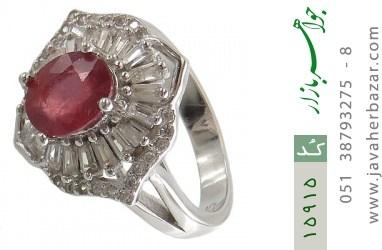 انگشتر یاقوت سرخ طرح شهناز زنانه - کد 15915
