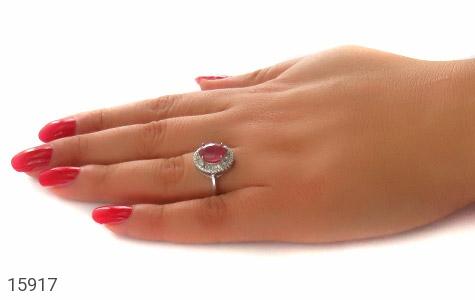 انگشتر یاقوت سرخ طرح مهشید زنانه - عکس 7