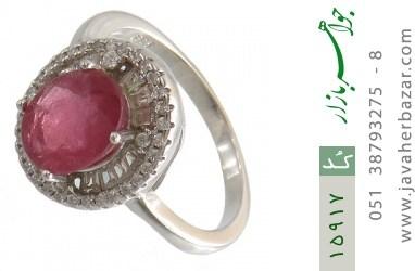 انگشتر یاقوت سرخ طرح مهشید زنانه - کد 15917