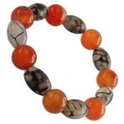 دستبند عقیق شجر و قرمز جذاب زنانه