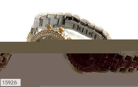 ساعت رولکس Rolex پرنگین دور طلائی زنانه - عکس 1