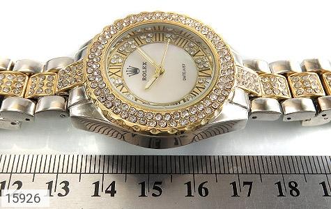 ساعت رولکس Rolex پرنگین دور طلائی زنانه - تصویر 6