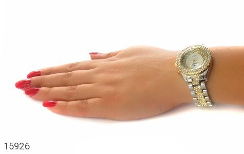 ساعت رولکس Rolex پرنگین دور طلائی زنانه - عکس 7