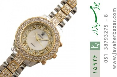 ساعت رولکس Rolex پرنگین دور طلائی زنانه - کد 15926