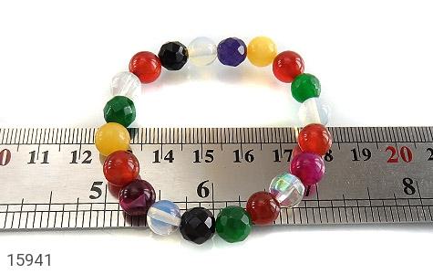 دستبند عقیق و جید رنگارنگ زنانه - تصویر 4