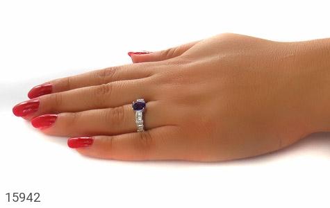 انگشتر آمتیست طرح نگار زنانه - عکس 7