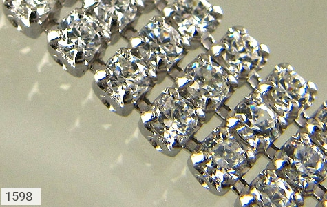 دستبند نقره آب رودیوم سفید طرح تنیسی زنانه - عکس 3