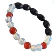 دستبند دلربا و عقیق قرمز و سفید زنانه