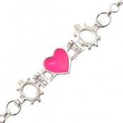 دستبند نقره طرح قلب بچه گانه