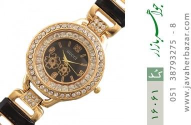 ساعت گوچی Gucci دورنگین مجلسی طلائی زنانه - کد 16061
