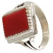 انگشتر عقیق قرمز طرح سهیل مردانه
