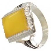انگشتر عقیق زرد شرف الشمس طرح سهیل مردانه