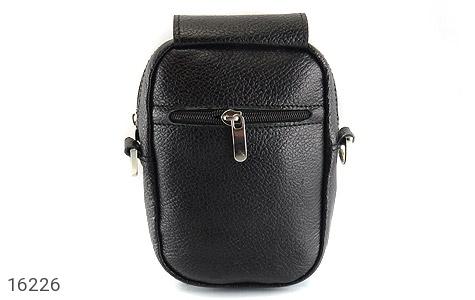 کیف چرم طبیعی دکمه دار مشکی طرح دوشی - عکس 5