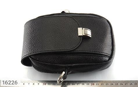 کیف چرم طبیعی دکمه دار مشکی طرح دوشی - تصویر 6