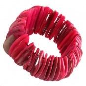 دستبند صدف درشت و خوش رنگ زنانه