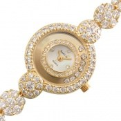 ساعت رویال کرون Royal Crown پرنگین طلائی مجلسی زنانه