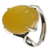 انگشتر عقیق زرد شرف الشمس درشت زنانه