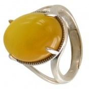 انگشتر عقیق درشت زرد شرف الشمس زنانه
