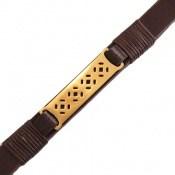 دستبند چرم طبیعی بند مگنتی طرح اسپرت
