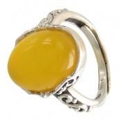 انگشتر عقیق زرد طرح یگانه زنانه