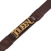 دستبند چرم طبیعی طرح سلطنتی