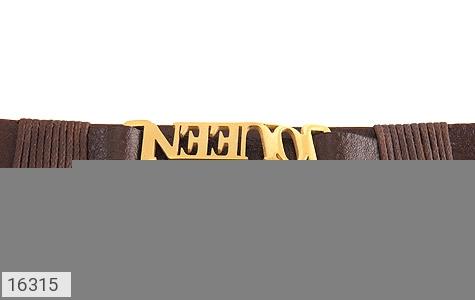 دستبند چرم طبیعی طرح سلطنتی - تصویر 6