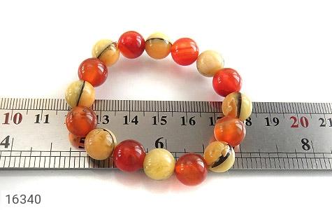 دستبند عقیق و کهربا پودری جذاب زنانه - تصویر 4