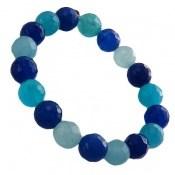 دستبند جید آبی خوش رنگ زنانه