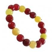 دستبند جید قرمز و زرد زنانه