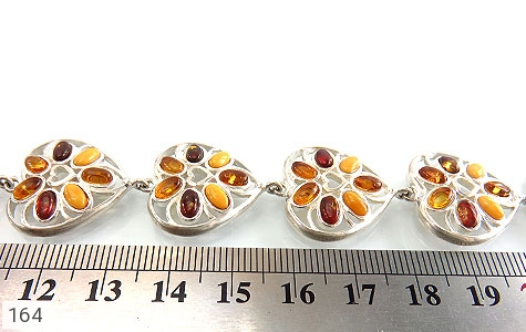 دستبند کهربا بولونی لهستان درجه یک درشت طرح قلب زنانه - عکس 5