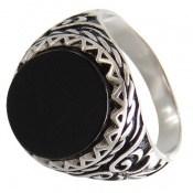 انگشتر عقیق سیاه اسپرت و شیک مردانه