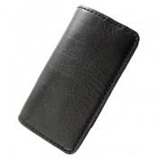 کیف چرم طبیعی ضربه گیر موبایل مشکی
