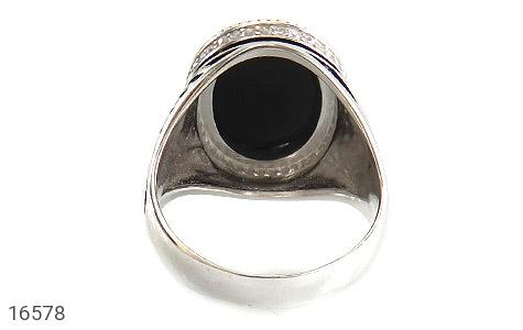انگشتر عقیق سیاه جذاب طرح ماهان مردانه - تصویر 4