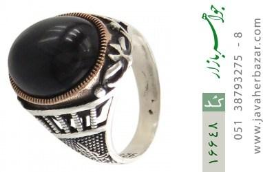 انگشتر عقیق سیاه طرح جمیل مردانه