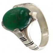 انگشتر عقیق سبز چهارچنگ حکاکی یا امام رضا مردانه