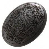 نگین تک حدید صینی درشت حکاکی صلوات امام حسین کد 16721