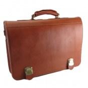 کیف چرم طبیعی طرح اداری بند دار