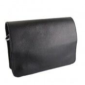 کیف چرم طبیعی مدل دوشی طرح اسپرت مشکی