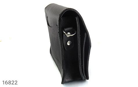 کیف چرم طبیعی مدل دوشی طرح اسپرت مشکی - عکس 3