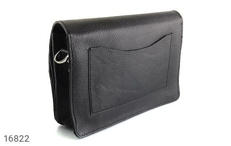کیف چرم طبیعی مدل دوشی طرح اسپرت مشکی - تصویر 4