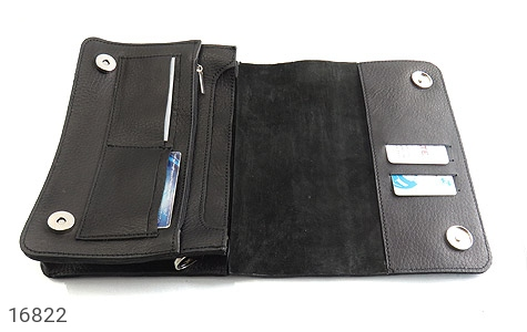کیف چرم طبیعی مدل دوشی طرح اسپرت مشکی - عکس 5