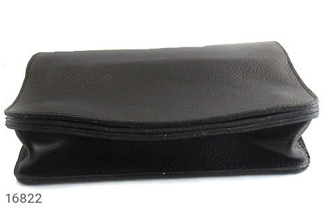 کیف چرم طبیعی مدل دوشی طرح اسپرت مشکی - عکس 7