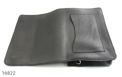کیف چرم طبیعی مدل دوشی طرح اسپرت مشکی - تصویر 8