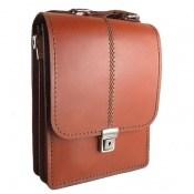 کیف چرم طبیعی بنددار طرح اداری