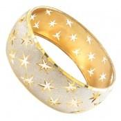 النگو نقره تک پوش طرح ستاره سایز 3 زنانه