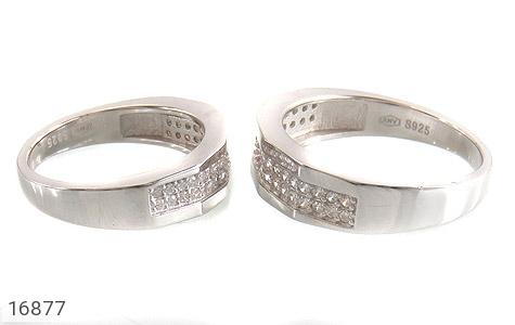 حلقه ازدواج نقره طرح طناز - عکس 3