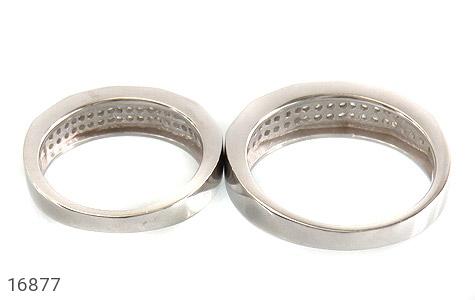 حلقه ازدواج نقره طرح طناز - تصویر 4