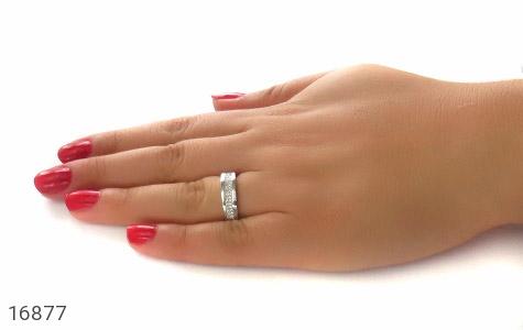 حلقه ازدواج نقره طرح طناز - عکس 7