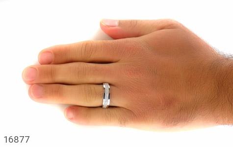 حلقه ازدواج نقره طرح طناز - تصویر 8